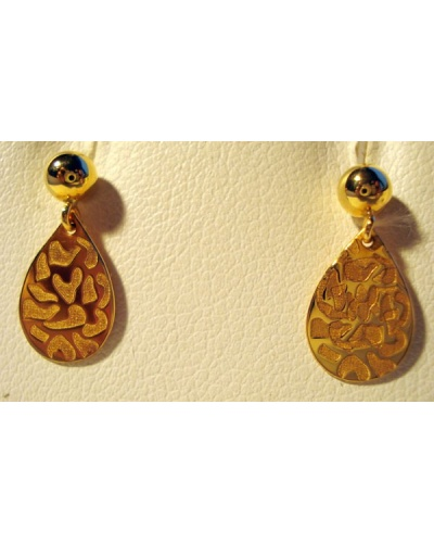 Boucles d'oreilles Safari or jaune 750