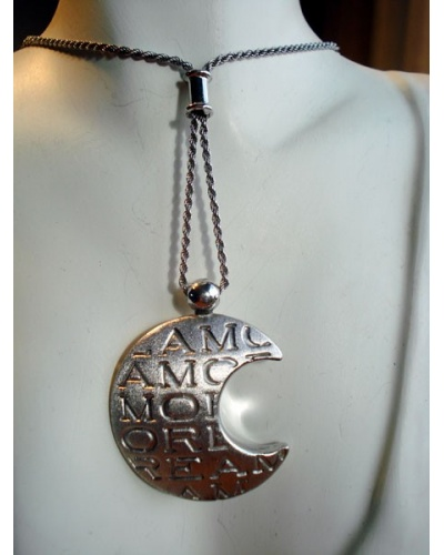 Collier Lune en or blanc 750 Caplain Saint André