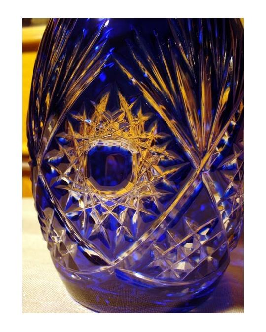 Carafe 224 Vin Bleue En Cristal Taill 233 Klein De Baccarat