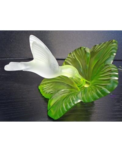 Hibiscus colibri vert anis Cristallerie Royale de Champagne