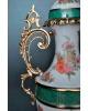 Amphore rouge bronze massif porcelaine