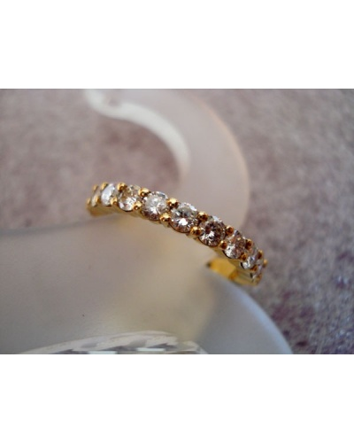 Demi-alliance 3/4 mars diamants or jaune 750