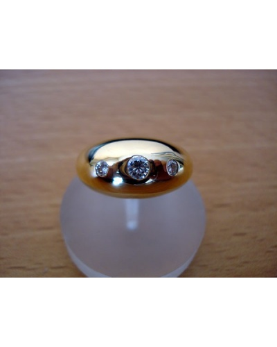 Bague Jonc 3 diamants or jaune 75065-X3067B