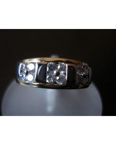 Bague diamants 2 ors 750