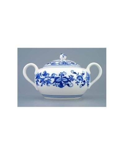 Grand sucrier Oignon Bleu porcelaine de Bohême