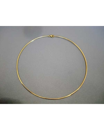 Collier jonc or jaune 750