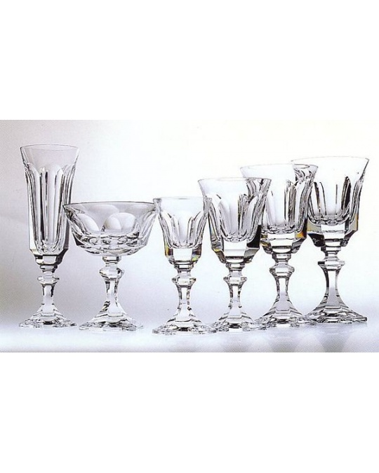 6 flutes a champagne modele chenonceaux en cristal de sevres. Black Bedroom Furniture Sets. Home Design Ideas