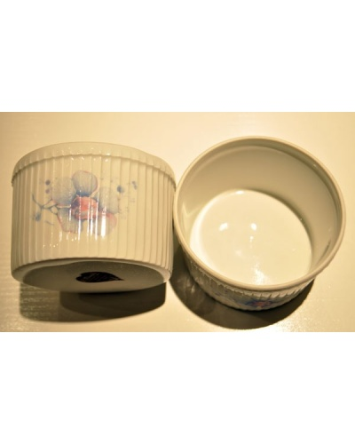 Mallette 4 bols à soufflé porcelaine au four L'Hirondelle