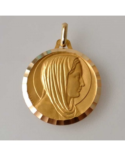 Virgin medal 16 mm gold 18 kt whittle