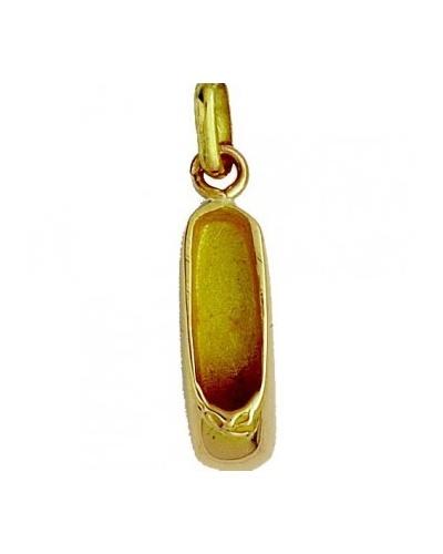 Pendentif chausson de danse or jaune 750