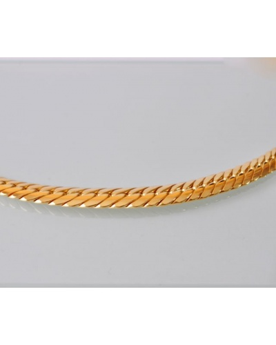 Collier maille anglaise chute or jaune 750