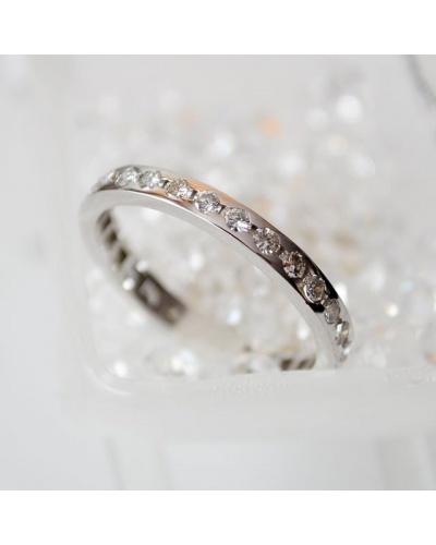 Alliance diamants tour complet or blanc 750 0,84k