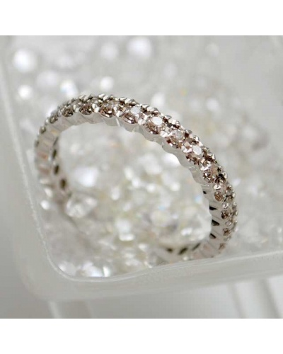 Alliance diamants tour complet or blanc 750 0,42k