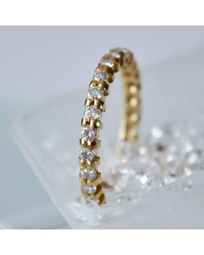 Alliance Mars diamants tour complet or jaune 750 1,06 k