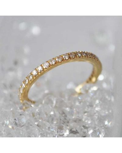 Alliance diamants tour complet or jaune 750 0,48 k