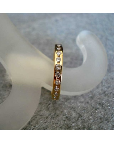 Alliance diamants tour complet or jaune 750 0,78k