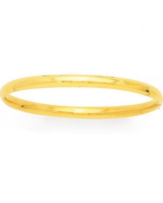 bracelet jonc or jaune massif