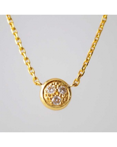 Collier rond diamants or jaune 750