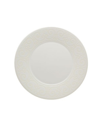 assiette plate cottage blanche en faience 28 cm casa alegre vista alegre. Black Bedroom Furniture Sets. Home Design Ideas