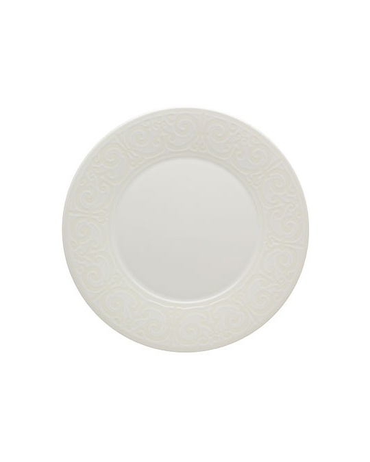 Assiette plate cottage blanche en faience 28 cm casa for Casa art de la table