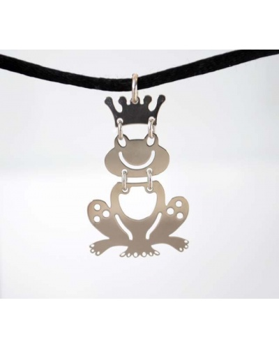 Collier grenouille argent massif 925