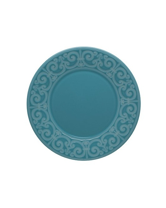 Assiette plate 28 cm cottage bleu p trole casa alegre for Casa art de la table