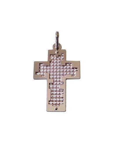 Croix homme argent massif 925 rhodié