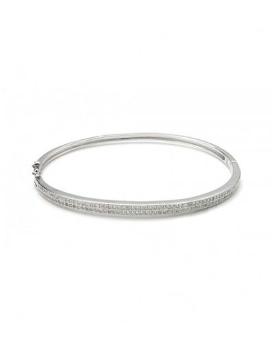 Bracelet jonc zirconiums argent 925