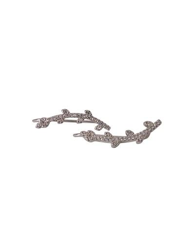Boucles d'oreilles montantes branche zirconiums argent 925