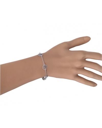 Bracelet Arbre de vie 10mm argent 925 rhodié