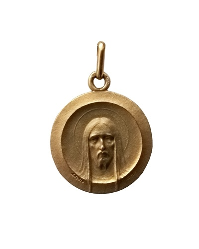 Médaille Christ moderne 22 mm or jaune 750 Augis