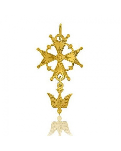 Croix Huguenote petite or jaune 750 Arthus Bertrand