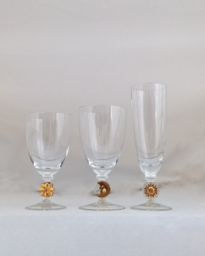 Service de verres 36 pièces Astres Cristal de Bohême