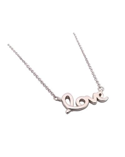 Collier Love argent 925 rhodié