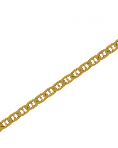 750 Yellow Gold Flat Marine Chain for Men