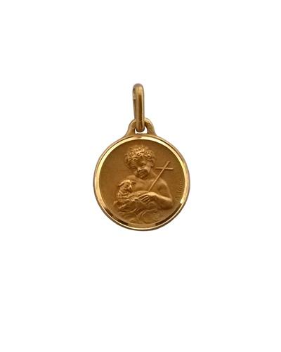Médaille St Jean-Baptiste or jaune 750 Augis 15mm