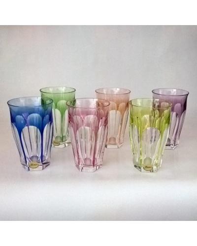Boite 6 verres couleur Lady Hamilton cristal Moser