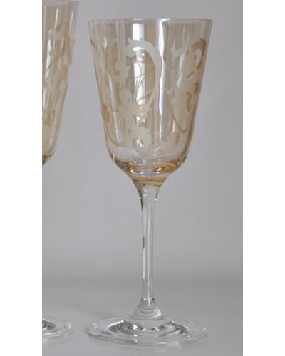 Boite 6 verres à vin Acanthe ambre Ainsi de Suite