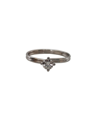 Bague solitaire diamant or blanc 750 Orest