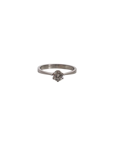 Bague solitaire diamant 0.31k or blanc 750