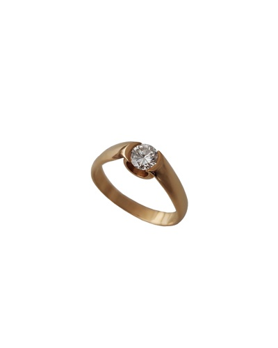 Bague solitaire diamant or jaune 750