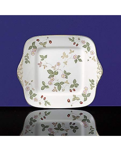 Plat â gâteaux carré Wild strawberry Wedgwood