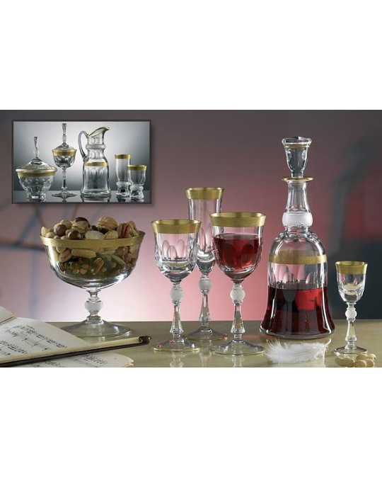service de verres jessie 49 pieces en cristal de boheme. Black Bedroom Furniture Sets. Home Design Ideas